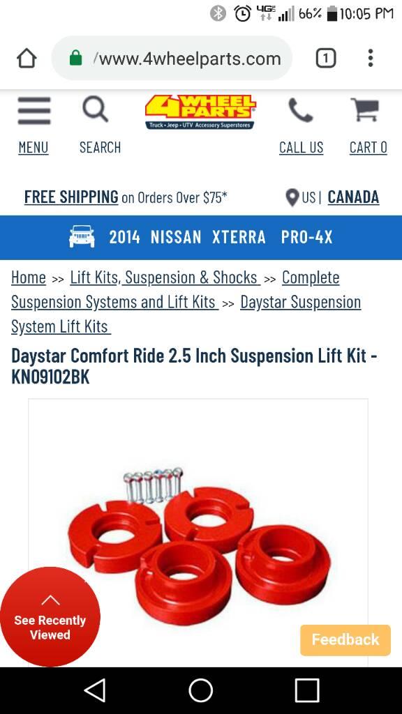 Pro-4X Leveling Kit | Second Generation Nissan Xterra Forums
